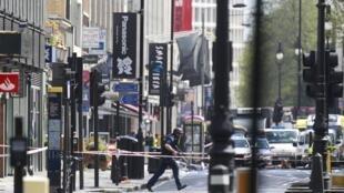Área foi isolada no centro de Londres.