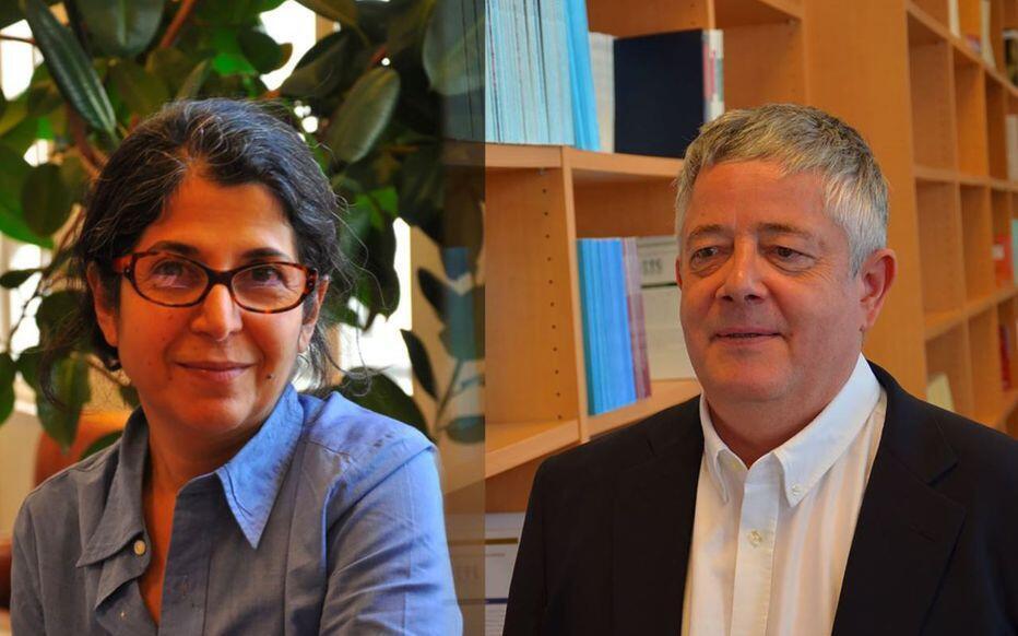 رولان مارشال و فریبا عادلخواه دو پژوهشگر فرانسوی
