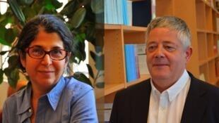 رولان مارشال و فریبا عادلخواه دو پژوهشگر فرانسوی که به اتهام جاسوسی در ایران زندانی هستند.