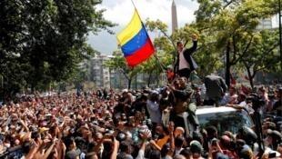 委內瑞拉臨時總統瓜伊多資料圖片