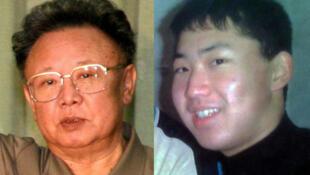 Lãnh đạo Bắc Triều Tiên Kim Jong Il (trái) và con trai Kim Jong Un