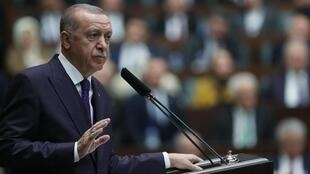 O presidente turco Recep Tayyip Erdogan.