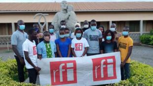 Les membres du Club RFI «Passion de vivre» d'Agoé Nyivé.