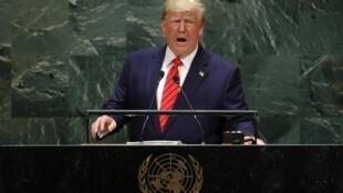 Donald Trump durante discurso na Assembleia Geral da ONU, em Nova York.