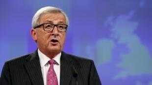 Jean-Claude Juncker, presidente da Comissão Europeia, durante conferência sobre a crise dos Bálcans em Bruxelas