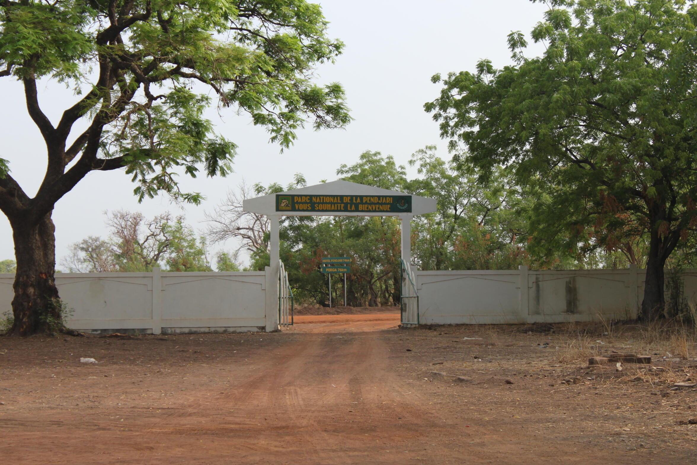 Porte d'entrée du parc national de la Pendjari, au nord-ouest du Bénin.