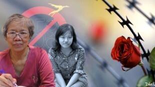 Blogger Đoan Trang và mẹ