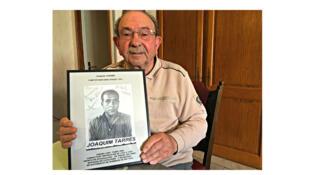 Joaquim Tarres Martin, 89 ans, réfugié républicain espagnol. Il a traversé les Pyrénées-Orientales à 10 ans, en 1939 lors de la Retirada.