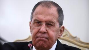 El ministro ruso Serguéi Lavrov, durante una rueda de prensa el 12 de mayo de 2021 en Moscú