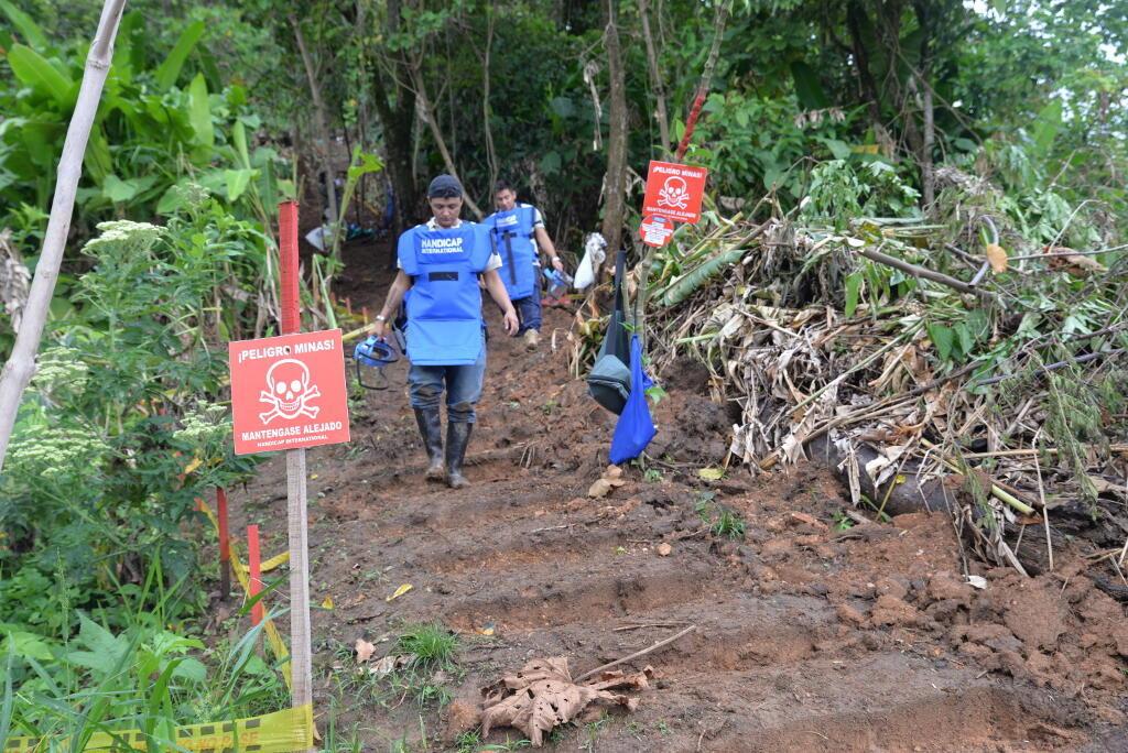 En Colombia, los empleados de Handicap International desminan el municipio de Vista Hermosa