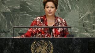 A presidente Dilma Rousseff discursou na abertura da 67ª Assembleia Geral das Nações Unidas.