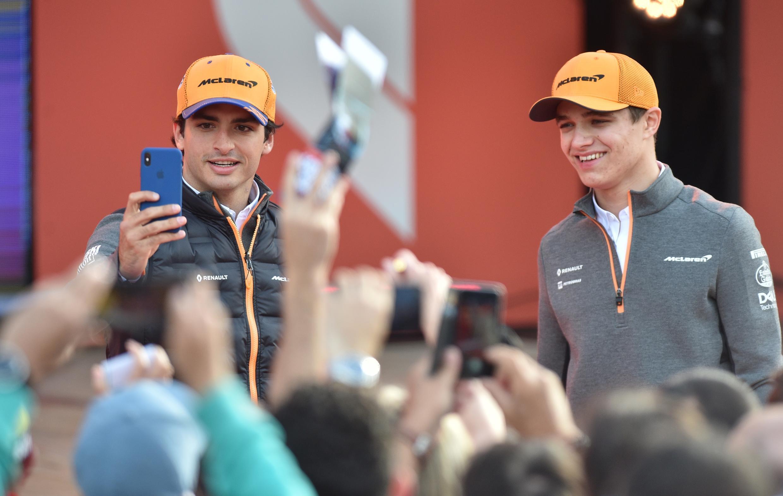 McLaren's Carlos Sainz Jr (left) and Lando Norris (right) have taken voluntary pay cuts amid Formula One's coronavirus crisis