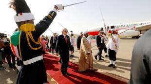 土耳其总统埃尔多安到访苏丹资料图片