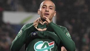 La joie de Wahbi Khazri après un but face à Strasbourg en Ligue 1.