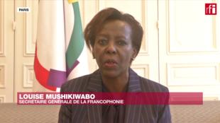 La secrétaire générale de l'Organisation internationale de la francophonie (OIF), Louise Mushikiwabo.