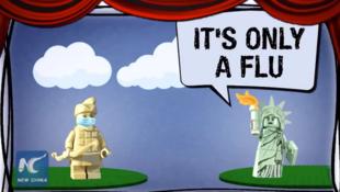 «C'est uniquement une grippe», rétorque la Statue de la Liberté dans la vidéo