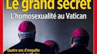 """A revista semanal Le Point traz em manchete """"O grande segredo, a homosexualidade no Vaticano""""."""