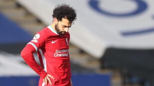 Le milieu de terrain égyptien de Liverpool Mohamed Salah, lors du match de Premier League à Leicester, au King Power Stadium le 13 février 2021