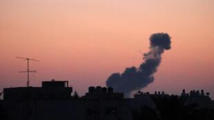 Jiragen yaki na Isra'ila a lokacin da suke ruwan wuta a yankin Gaza