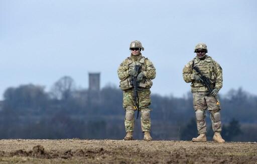 سرباران آمریکائی هنگام انجام تمرینات نظامی در جنوب آلمان ـ  ٤ مارس ٢٠٢٠
