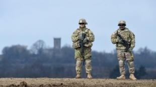Des soldats américains lors d'un exercice militaire à Grafenwoehr, dans le sud de l'Allemagne, le 4 mars 2020 (illustration).