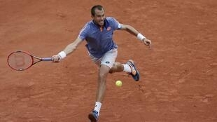 Switzerland's Stan Wawrinka plays Czech Republic's Lukas Rosol at Roland Garros