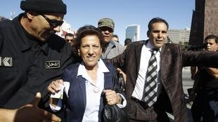 Radhia Nasraoui, avocate tunisienne, présidente de l'Association tunisienne de lutte contre la torture, le 1er novembre 2012