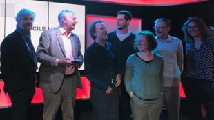 Nos invités en studio à RFI.
