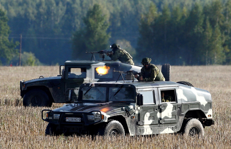 Белорусские военные на учениях 25 августа 2017