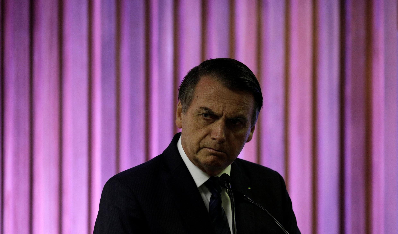 O presidente Jair Bolsonaro aguarda início de evento com empresários no Rio de Janeiro. 20/05/2019.
