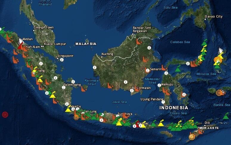 Magma Indonesia, một ứng dụng cung cấp thông tin núi lửa và nguy cơ thiên tai khác ở Indonesia.