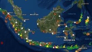 Magma Indonesia, une application consacrée à la volcanologie et aux différents risques de catastrophes naturelles à travers l'archipel.