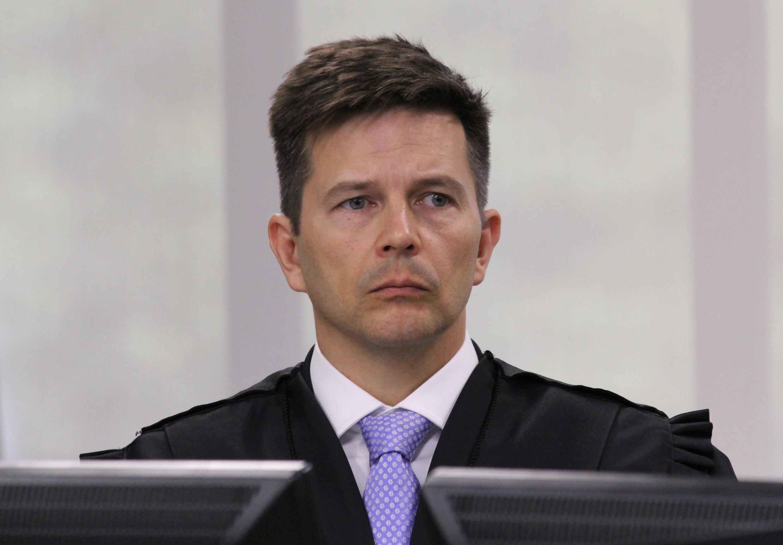 O desembargador Leandro Paulsen durante julgamento na 8ª Turma do TRF4