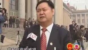 图为中国官方网站刊发山东晨曦集团总裁邵仲毅北京人大会议接受采访