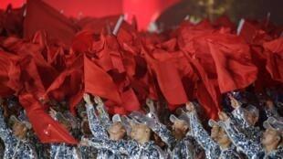 2019年10月1日中國國慶70周年晚會場景。