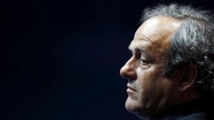O cartola francês Michel Platini, que pode ser banido do mundo do futebol