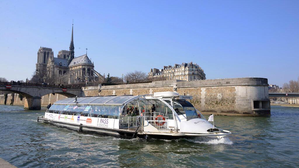 A Batobus on the Seine river
