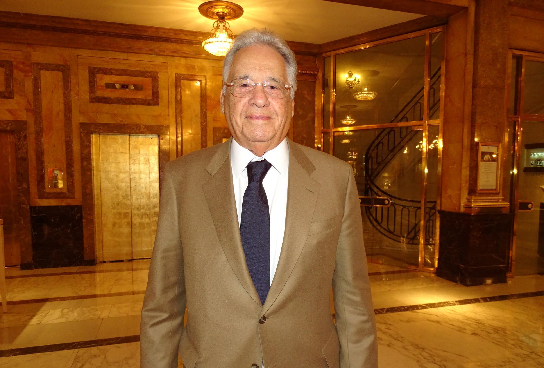 O ex-presidente Fernando Henrique Cardoso, em Buenos Aires.