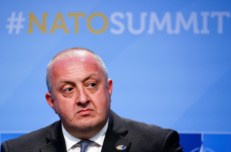 Грузинский президент Георгий Маргвелашвили на саммите НАТО в Брюсселе. 12 июля 2018 г.