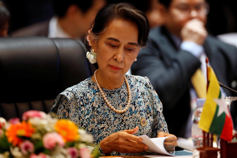 Ngoại trưởng Miến Điện Aung San Suu Kyi - Ảnh nhân cuộc họp Ngoại trưởng ASEAN tại Vientiane, 25/07/2016