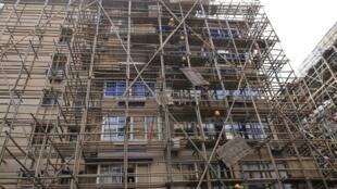 圖為上海一個房地產工地。