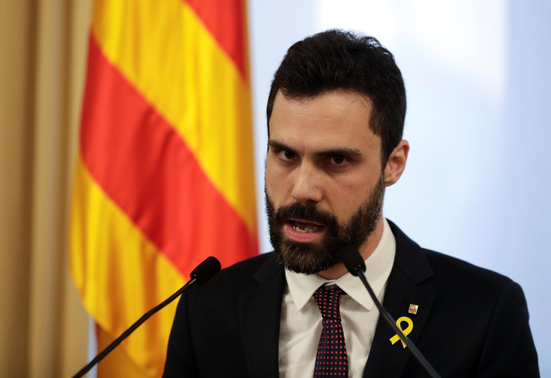 Kaimu Spika wa Bunge la Cataloni Roger Torrent, tarehe 30 Januari 2018, Barcelona.