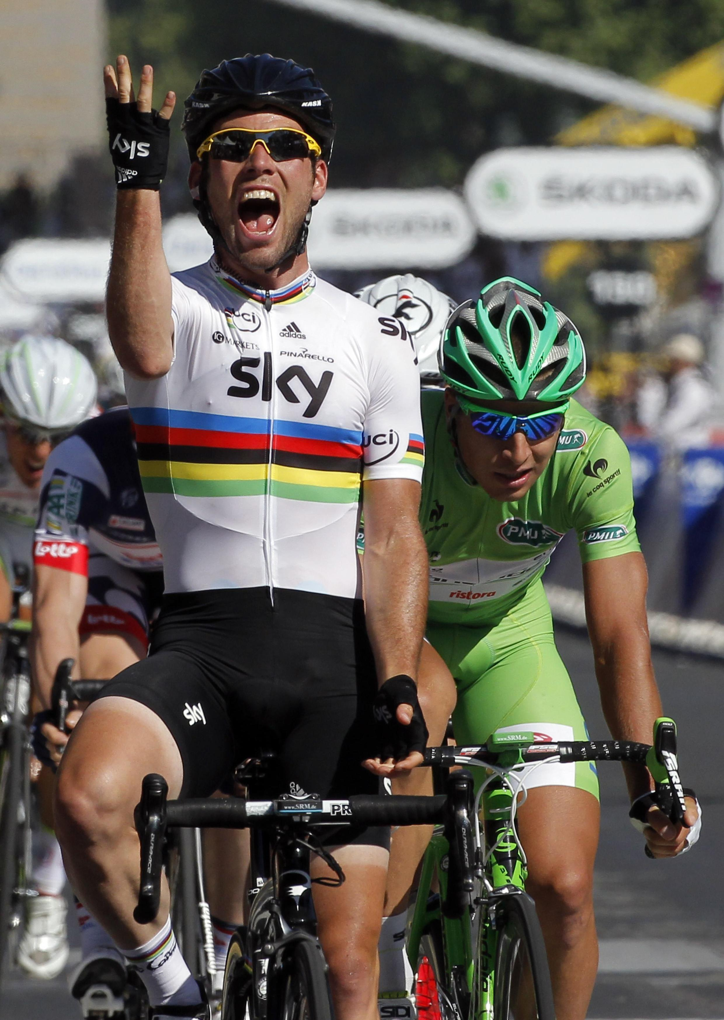 Le Britannique Mark Cavendish a remporté la dernière étape du Tour de France 2012 sur les Champs-Elysées.