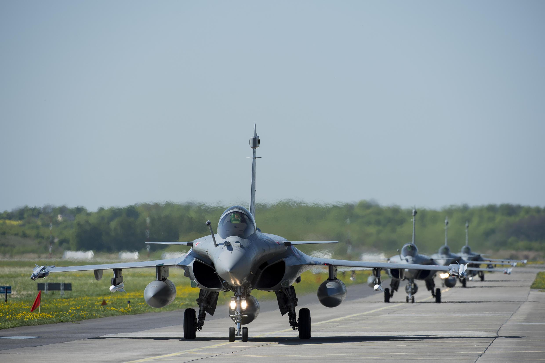Rafales de l'armée de l'air française.