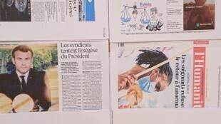 Páginas de diários franceses  16 06 2020