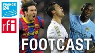 Wani hoton da aka hada tsakanin Messi da Ronaldo da Yaya Toure wanda kuma ke dauke da tambarin Rediyon Faransa da gidan Telebijin na France 24