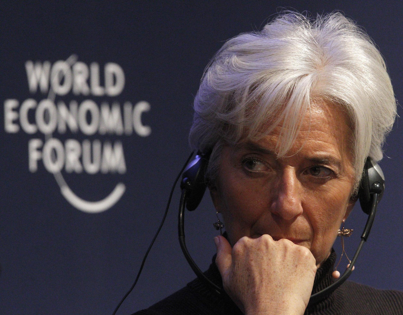 Christine Lagarde at the Davos World Economic Forum