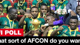 Cameroon ndio washindi wa taji taji la Afcon mwaka jana, fainali zilizochezwa nchini Gabon