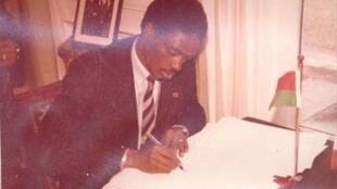 Basile Guissou, ancien ministre burkinabé des Affaires étrangères puis de l'Information.