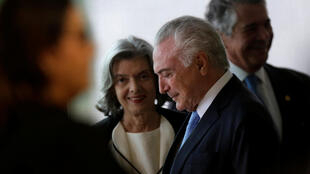 Tổng thống Brazil Michel Temer và bà Carmen Lucia, chủ tịch Tòa Án Tối Cao, trong một phiên hạp đầu năm của Tư pháp Brazil, ngày 01/02/2018.
